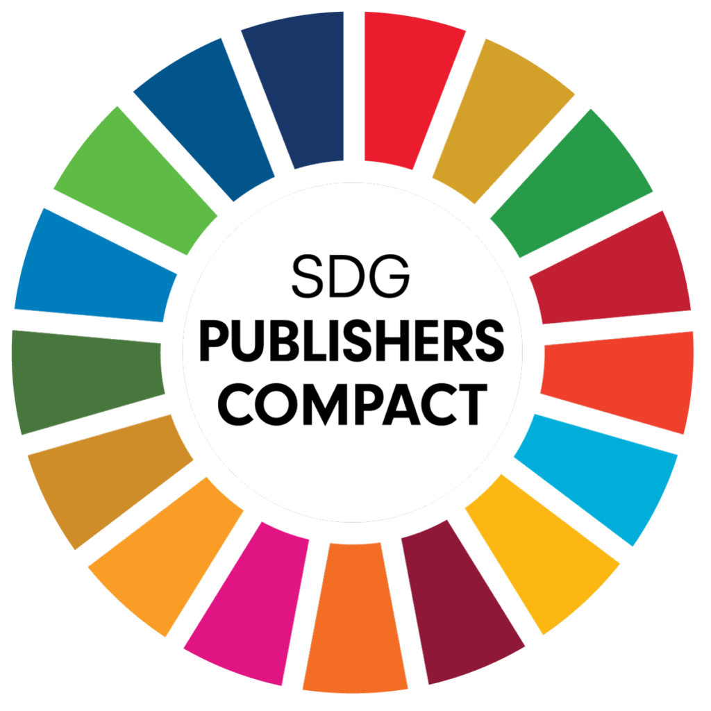 """Color wheel around text reading """"SDG Publishers Compact"""""""