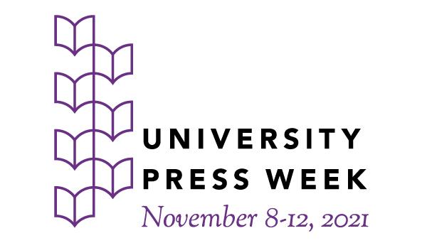 purple and black logo of University Press Week 2021